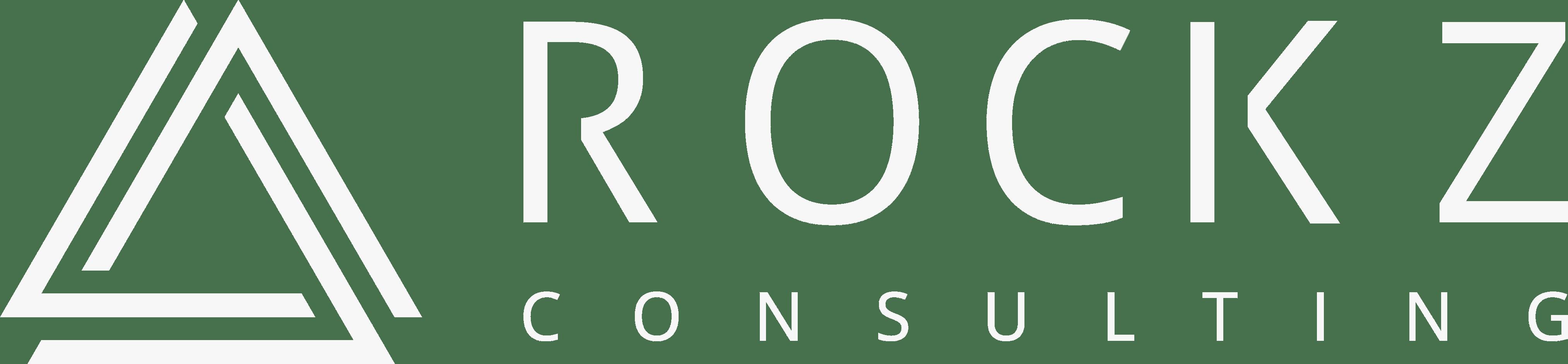 ROCKZ Consulting - Logo - Weißes Symbol und weiße Schrift