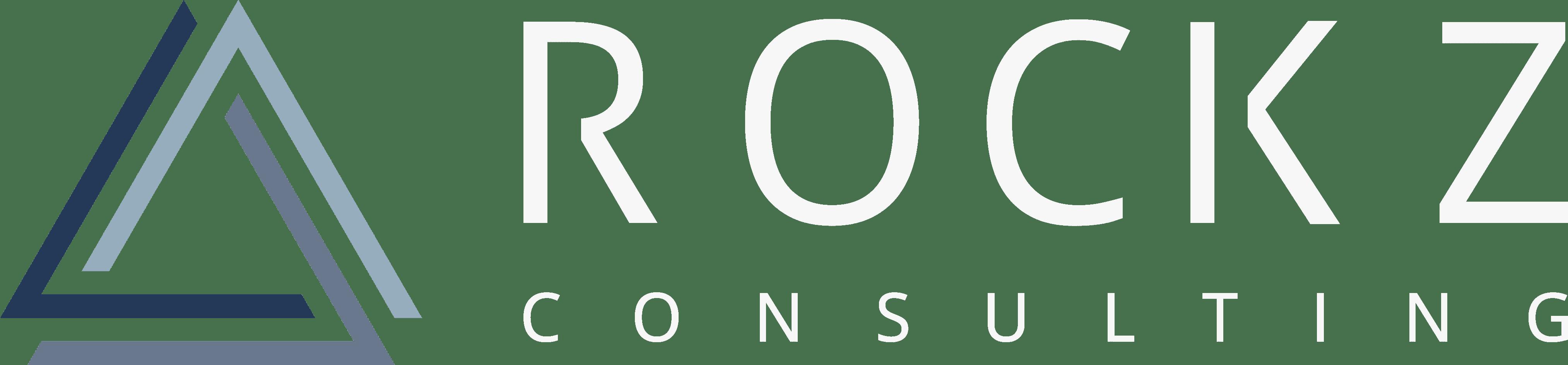 ROCKZ Consulting - Logo - Farbiges Symbol und schwarze Schrift